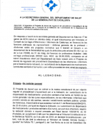 Al·legacions Projecte de decret acreditació prescripció infermera
