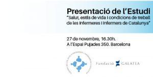 Acte central de presentació de l'estudi sobre la salut i les condicions de treball de les infermeres catalanes