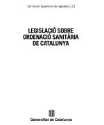 LOSC – Legislació sobre ordenació sanitària de Catalunya