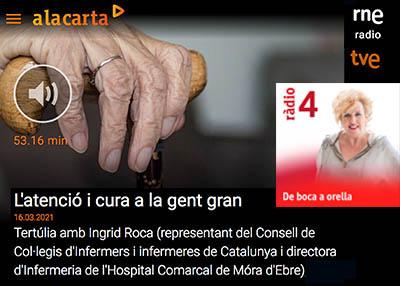 """Íngrid Roca: """"El 'know-how' de la infermeria ha de liderar el nou model assistencial dels centres residencials"""""""
