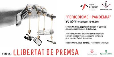 Visió infermera sobre 'Periodisme i pandèmia', en el Simposi de Llibertat de Premsa