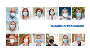 Els col·legis professionals de l'àmbit de la salut llencen el vídeo #raonspervacunarme, amb un missatge conjunt per promoure la vacunació enfront la COVID19