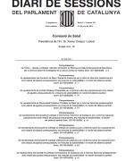 Compareixença Degana Comissió de Salut del Parlament 21.6.2012