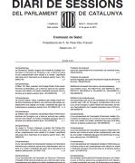 Compareixença Degana Comissió de Salut del Parlament 29.1.2015