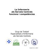 La Infermeria als serveis centrals. Funcions i competències