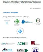 2018 Reflexions dels col·legis professionals i societats científiques infermeres sobre la urgència de prendre posició sobre l'aportació infermera a Catalunya